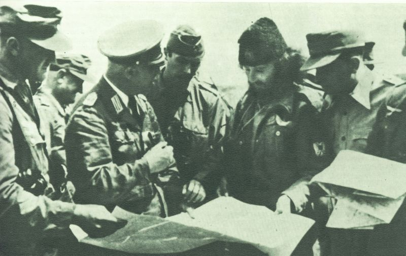 PHOTO: Serbian Chetniks with Nazi Germans, Zajecar 1944. The Chetniks' struggle with the invaders came to a complete stop at the end of 1941, and gradually evolved into cooperation with the Italian Fascists and the German Nazis. According to Yad Vashem Holocaust Memorial in Israel, 'As the Chetniks increased their cooperation with the Germans, their attitude toward the Jews in the areas under their control deteriorated, and they identified the Jews with the hated Communists. There were many instances of Chetniks murdering Jews or handing them over to the Germans.'